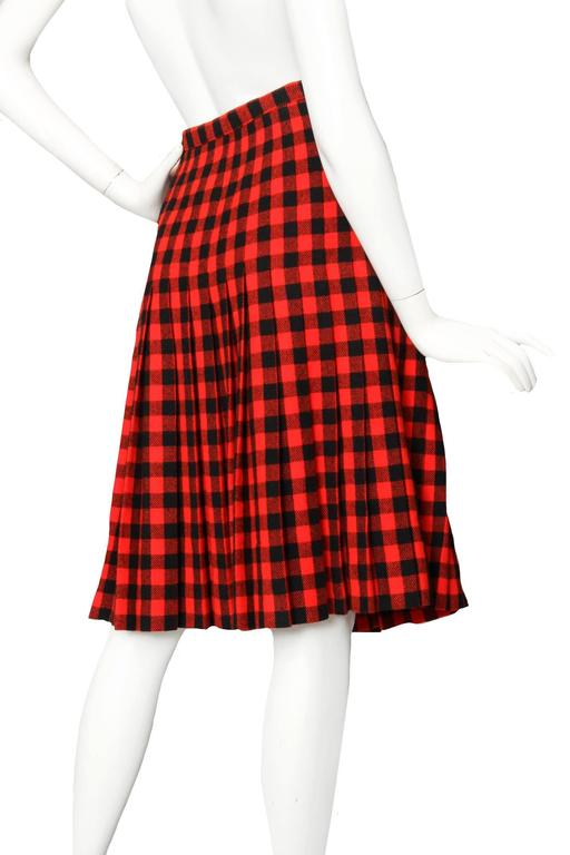 60 Givenchy Haute Couture Tartan Wool A-line Skirt 4