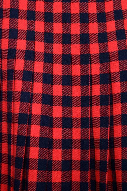60 Givenchy Haute Couture Tartan Wool A-line Skirt 5