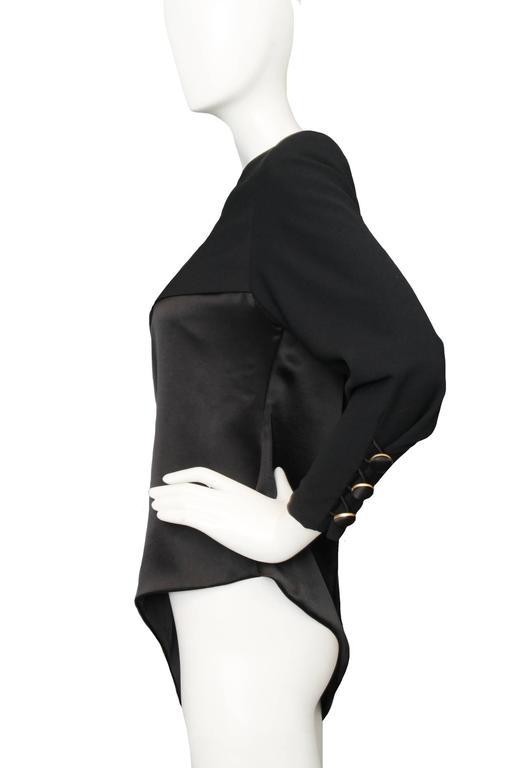 Women's A Black Pierre Balmain Asymmetric Blouse For Sale