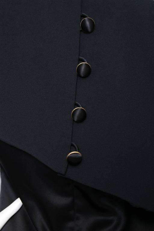 A Black Pierre Balmain Asymmetric Blouse For Sale 2