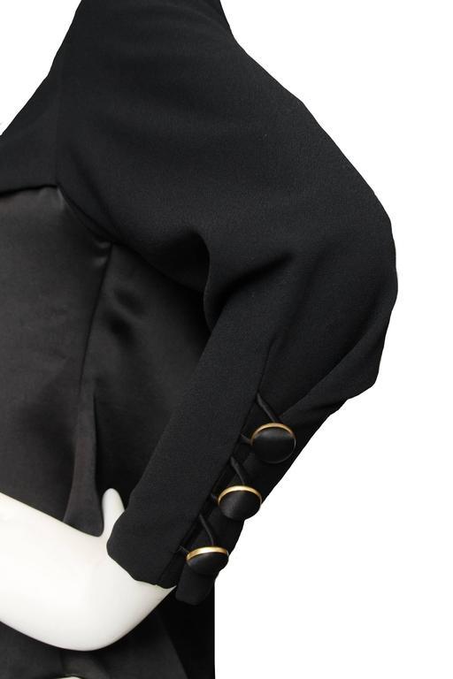 A Black Pierre Balmain Asymmetric Blouse For Sale 3