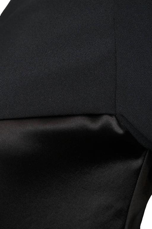 A Black Pierre Balmain Asymmetric Blouse For Sale 4