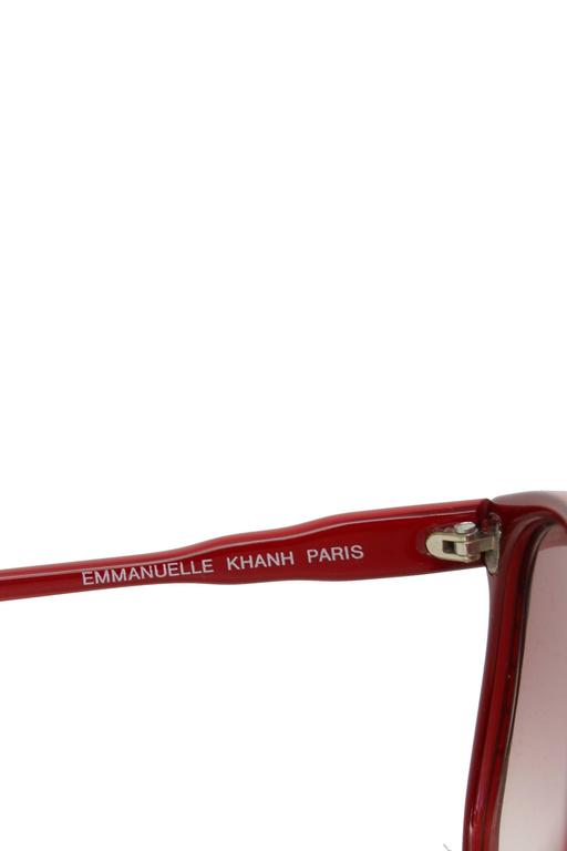 A Pair of 1970s Emmanuelle Kahn Paris Red Frame Sunglasses 2