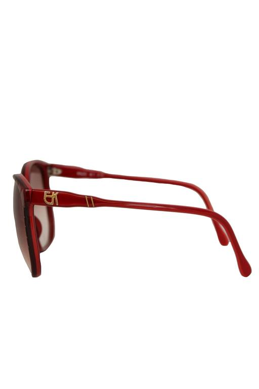 A Pair of 1970s Emmanuelle Kahn Paris Red Frame Sunglasses 4