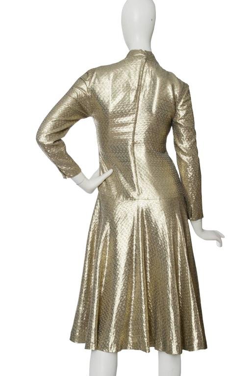 A 1970s Hanae Mori Gold Lamé Dress 4