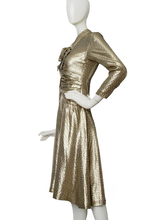 A 1970s Hanae Mori Gold Lamé Dress 3