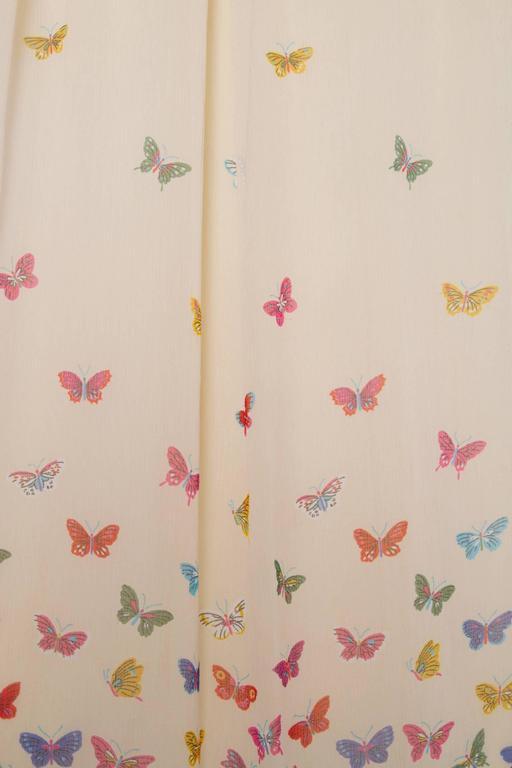A Stunning  Hanae Mori Butterfly Silk Dress  For Sale 2