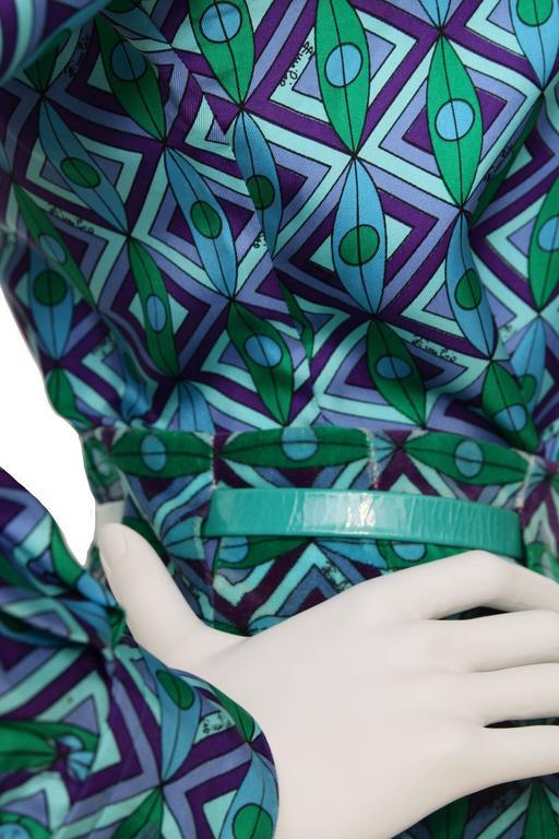 A rare 70s Emilio Pucci Silk & Cotton Ensemble For Sale 2