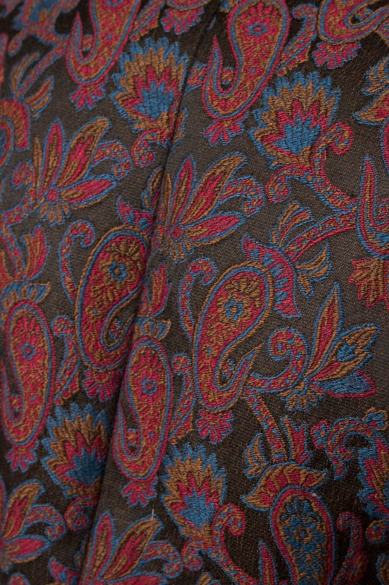 Yves Saint Laurent Vintage Rive Gauche Tapestry Paisley Printed Blazer XS For Sale 1
