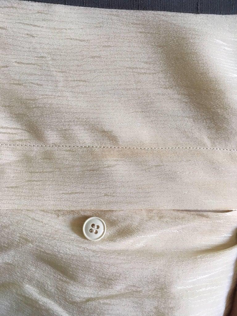 Women's Valentino Vintage White Silk Drop Waist Dress, 1980s  For Sale