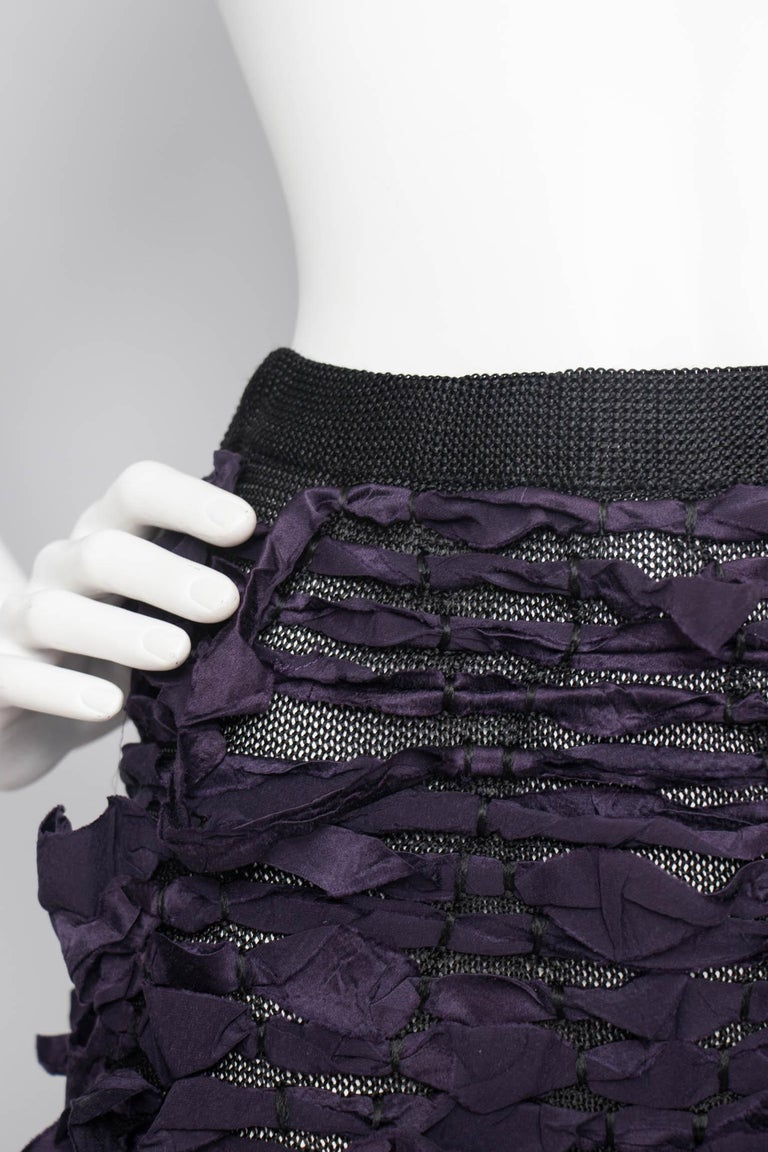 Yves Saint Laurent by Tom Ford Vintage Raw Ribbon Skirt, Fall 2001  For Sale 3