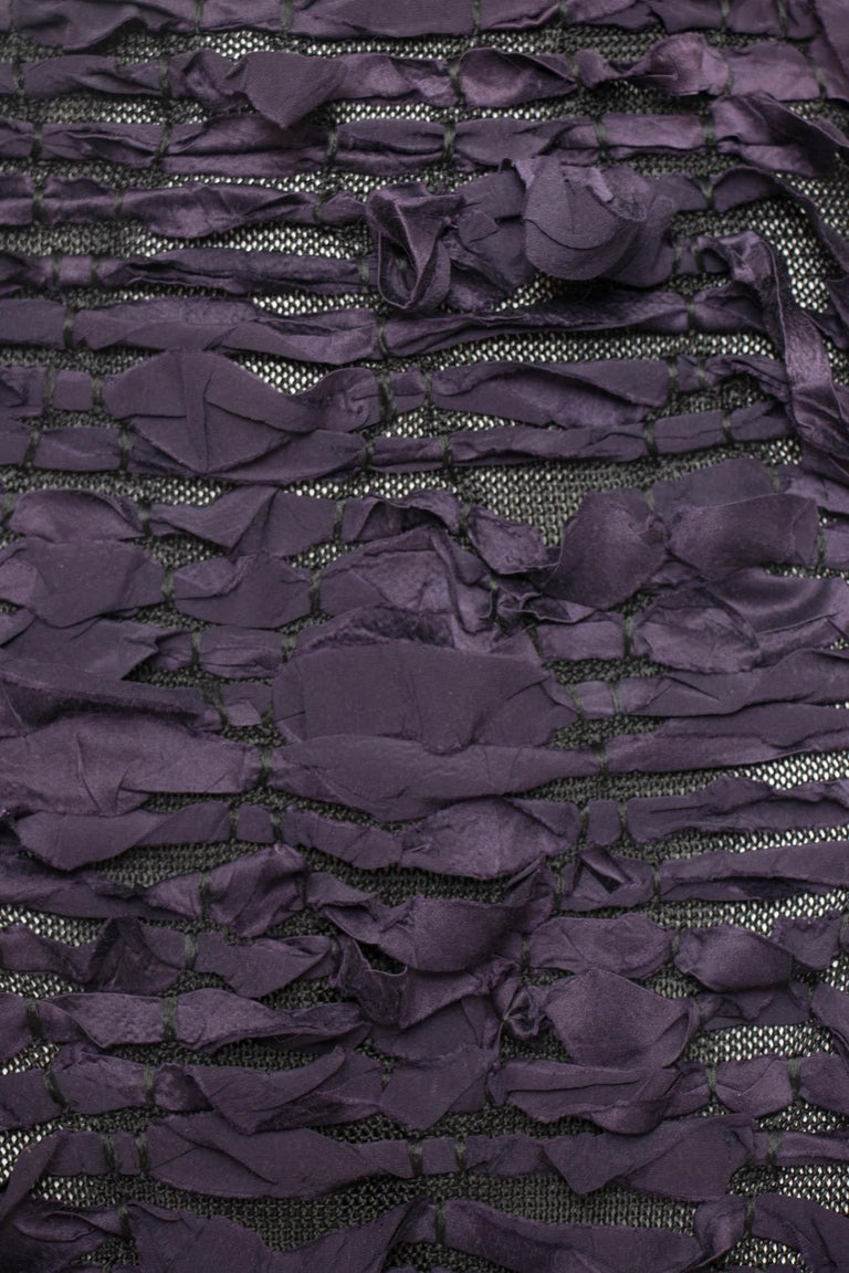 Yves Saint Laurent by Tom Ford Vintage Raw Ribbon Skirt, Fall 2001  For Sale 4