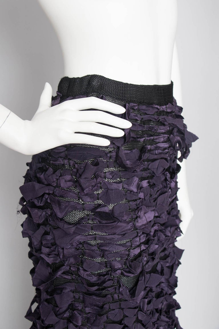 Yves Saint Laurent by Tom Ford Vintage Raw Ribbon Skirt, Fall 2001  For Sale 2