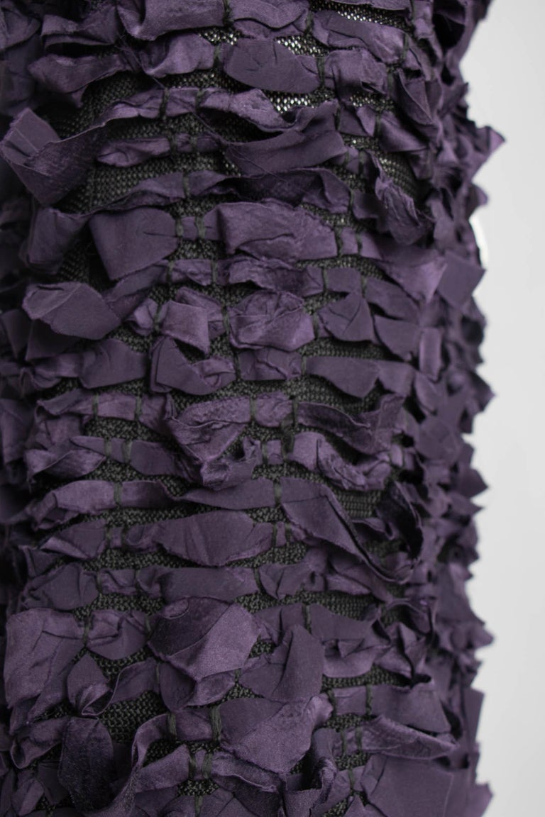 Yves Saint Laurent by Tom Ford Vintage Raw Ribbon Skirt, Fall 2001  For Sale 5