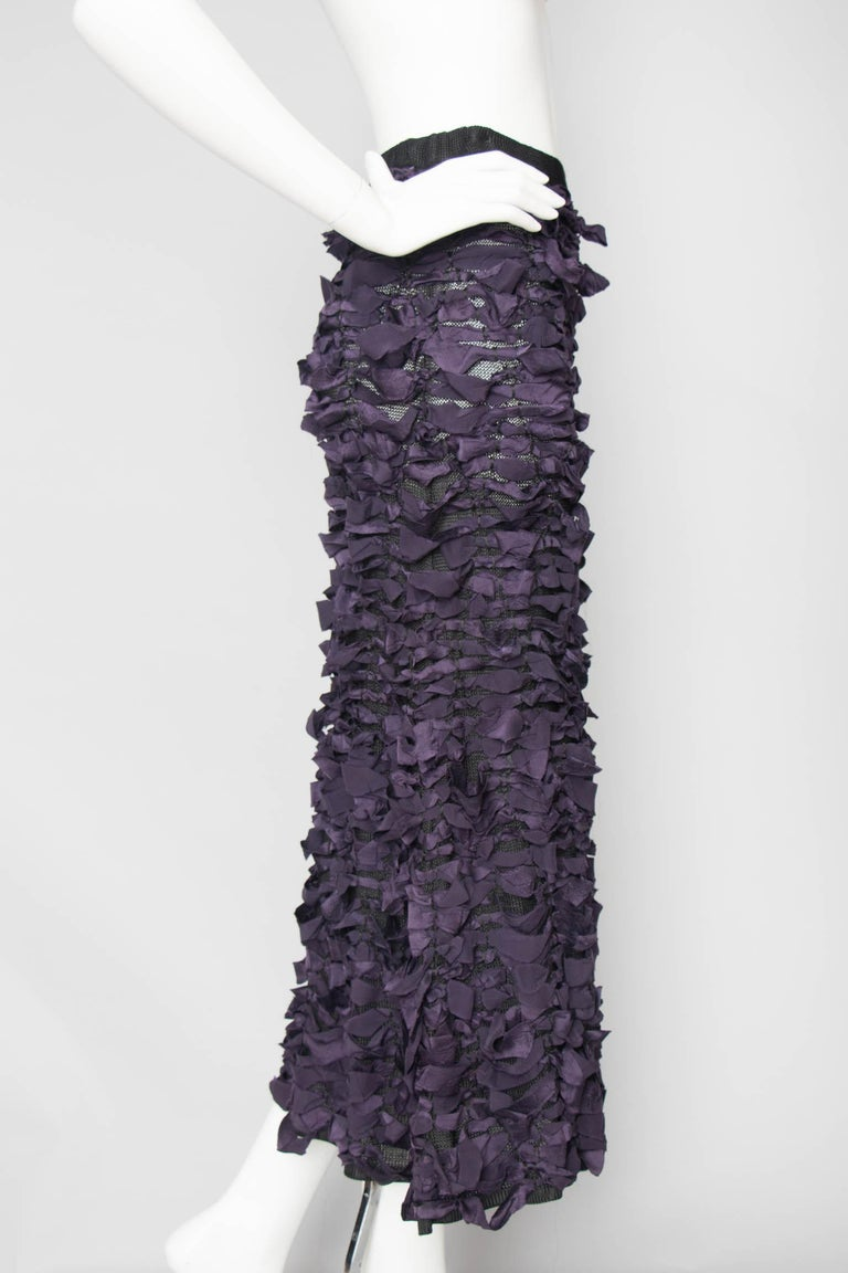 Yves Saint Laurent by Tom Ford Vintage Raw Ribbon Skirt, Fall 2001  In Good Condition For Sale In Copenhagen, DK