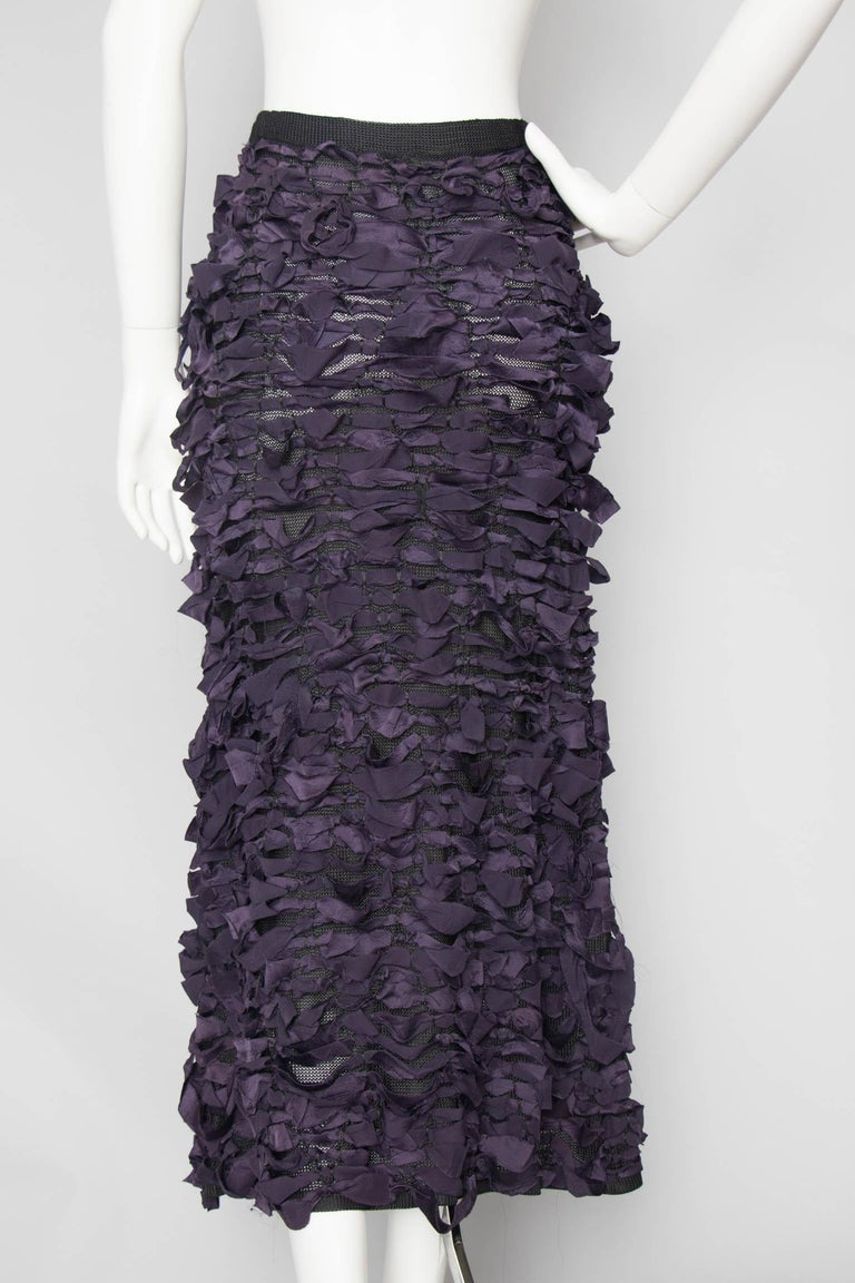 Yves Saint Laurent by Tom Ford Vintage Raw Ribbon Skirt, Fall 2001  For Sale 1