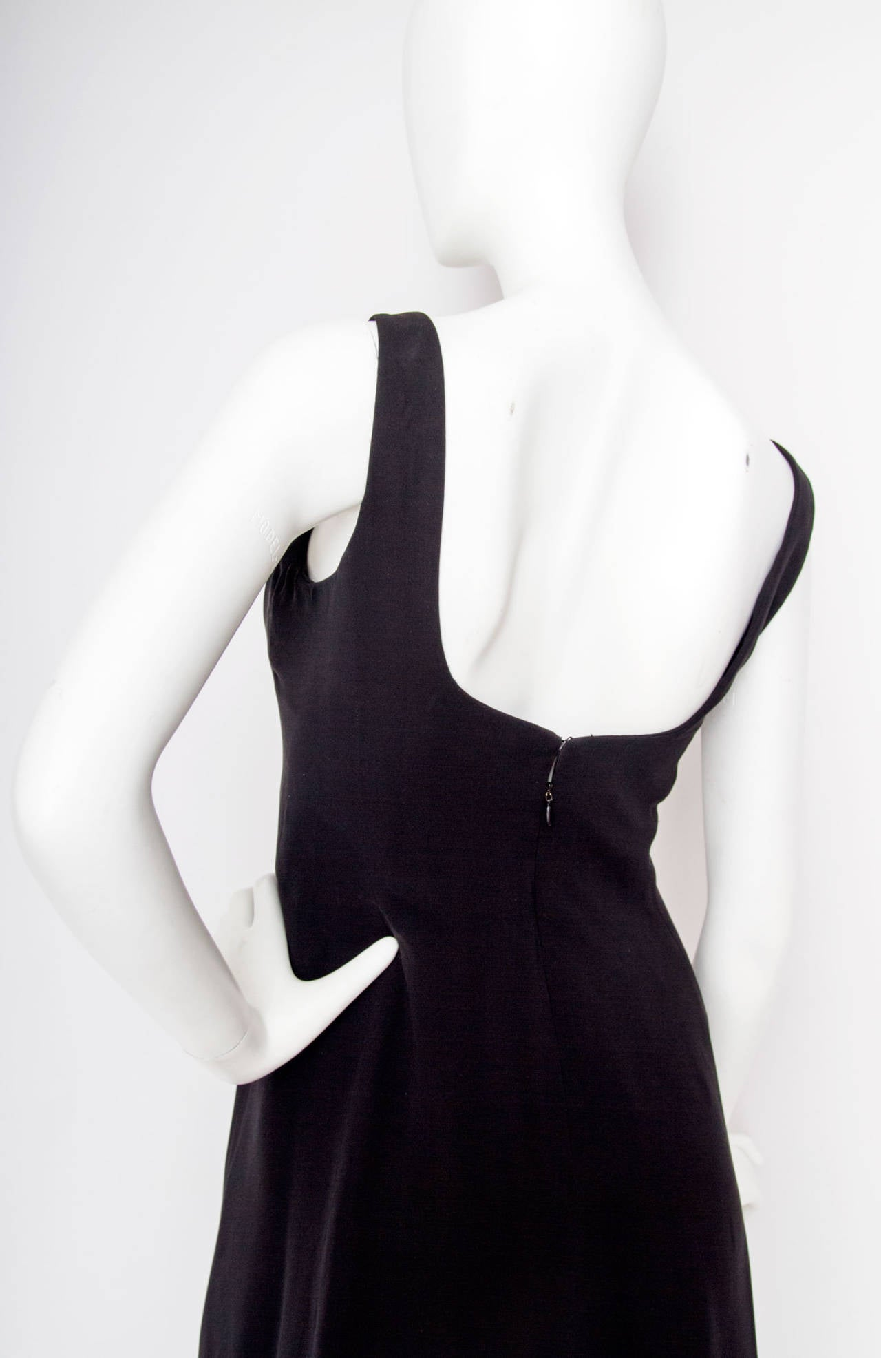 Early 1990s Gianni Versace Couture Little Black Dress w Medusa Buckle S 6