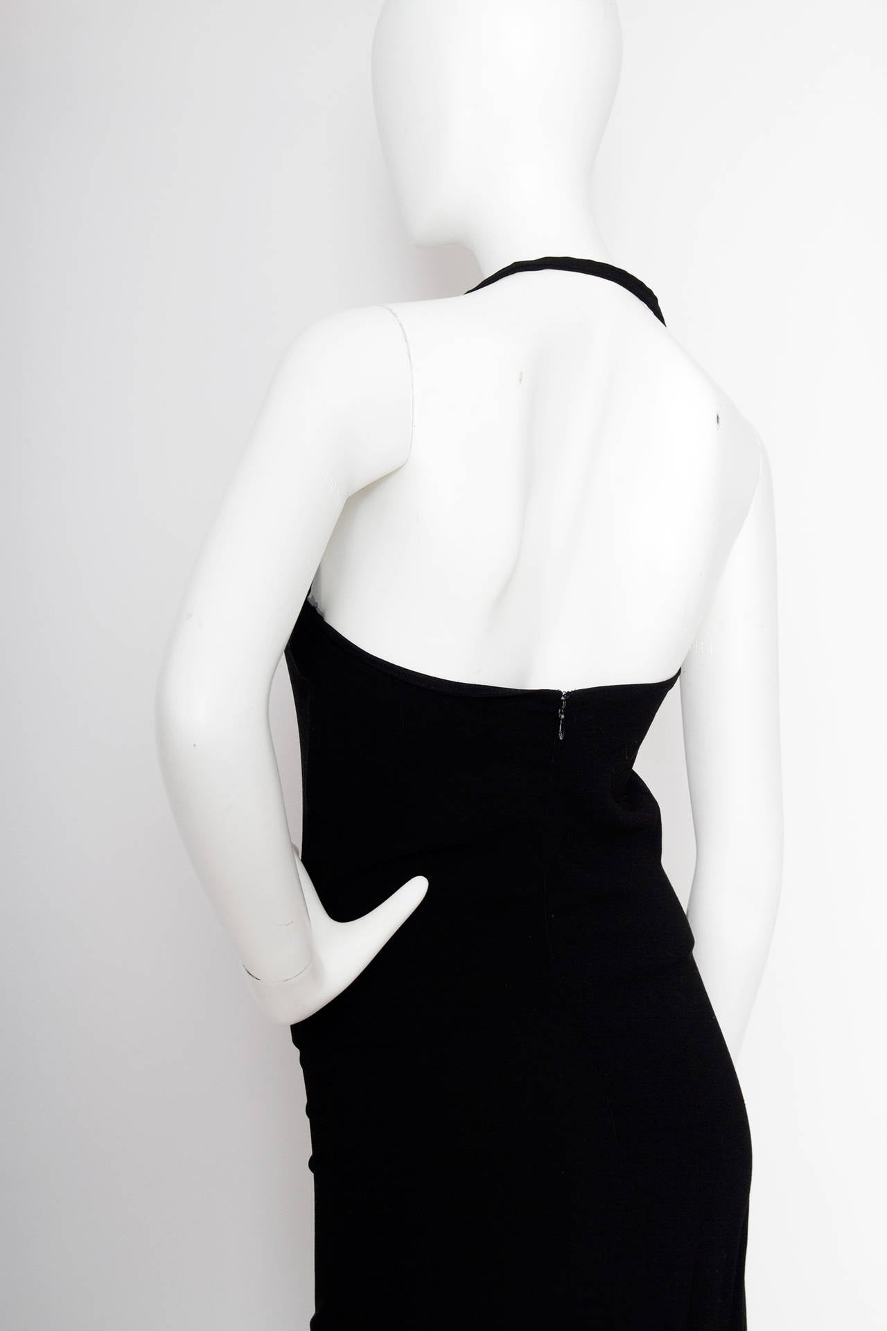 A Stunning 1990s Jean Paul Gaultier Black Dress For Sale 5
