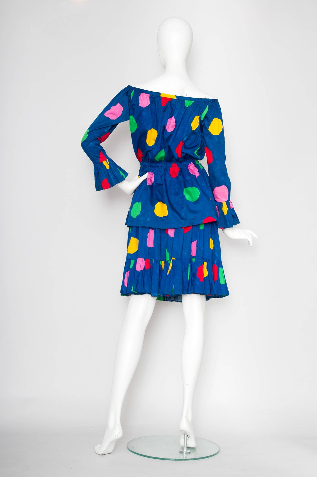 1980s Yves Saint Laurent Rive Gauche Two-piece Dress 4