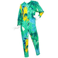 1980s Enrico Coveri Jungle Themed Boiler Suit & Jacket Size M