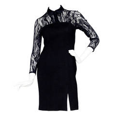 Early 1990s  Thierry Mugler Lace and Wool Dress