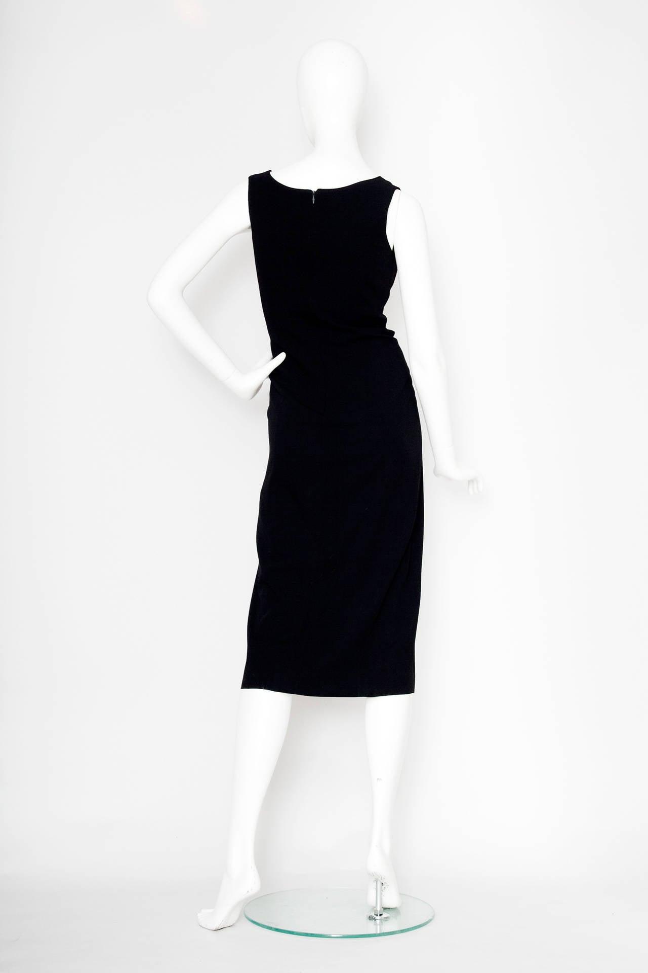 Women's 1990s Jean Paul Gaultier Black Cotton Cutout Dress For Sale