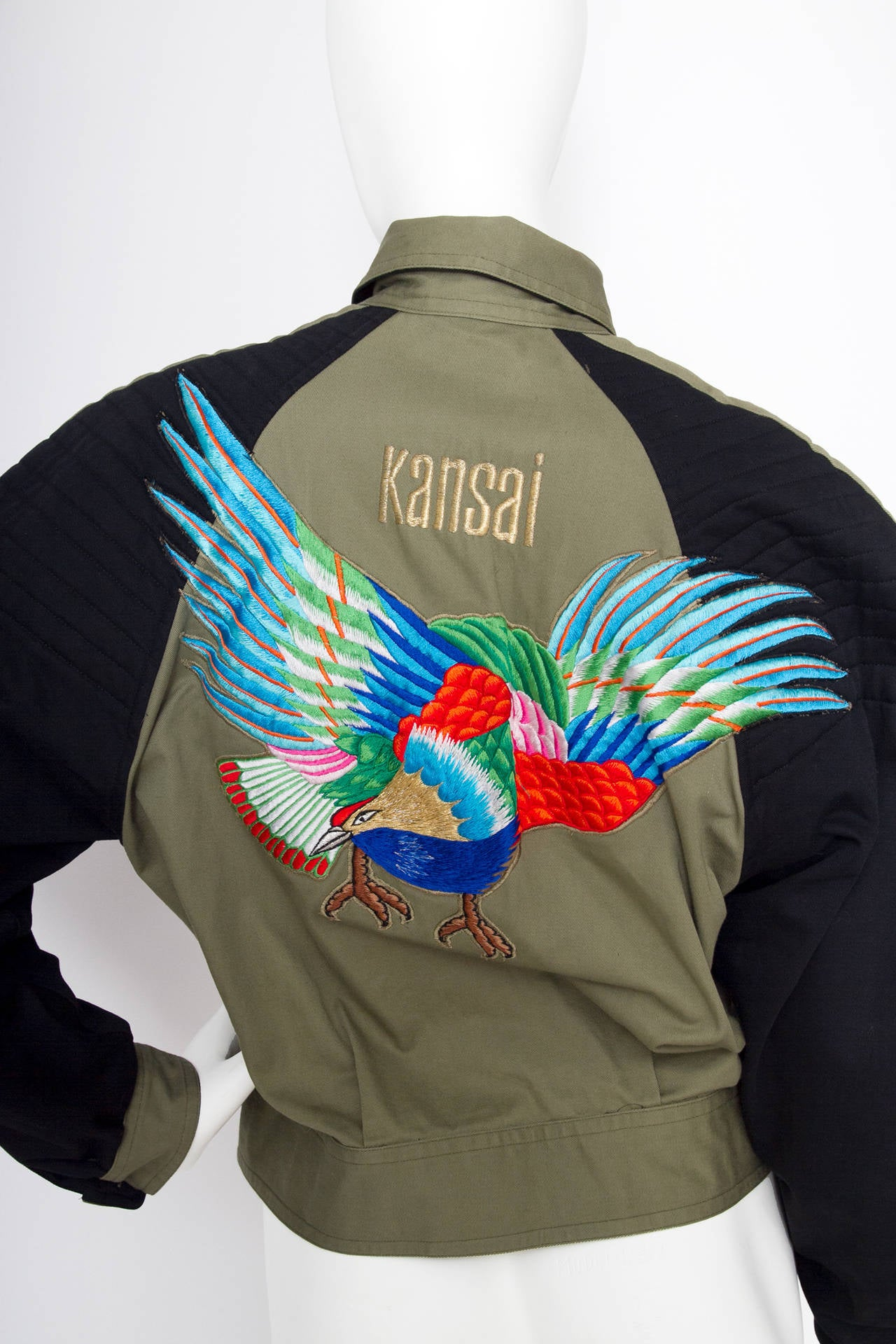 1980s Kansai Yamamoto Canvas Biker jacket For Sale 2