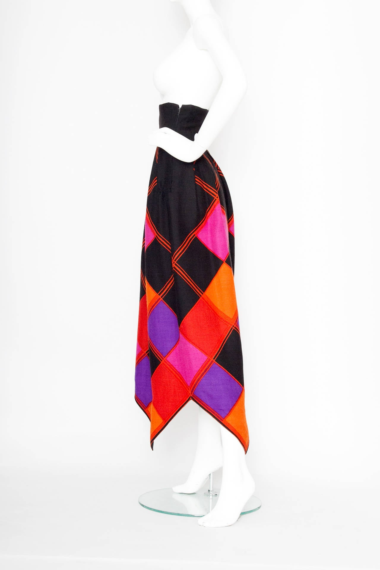 Doucmented 1971 Pierre Cardin Graphic Wool Skirt 3