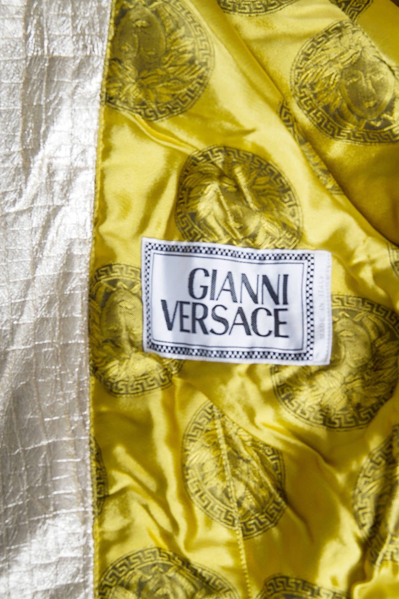 1980s Gold Gianni Versace Leather Biker Jacket 7