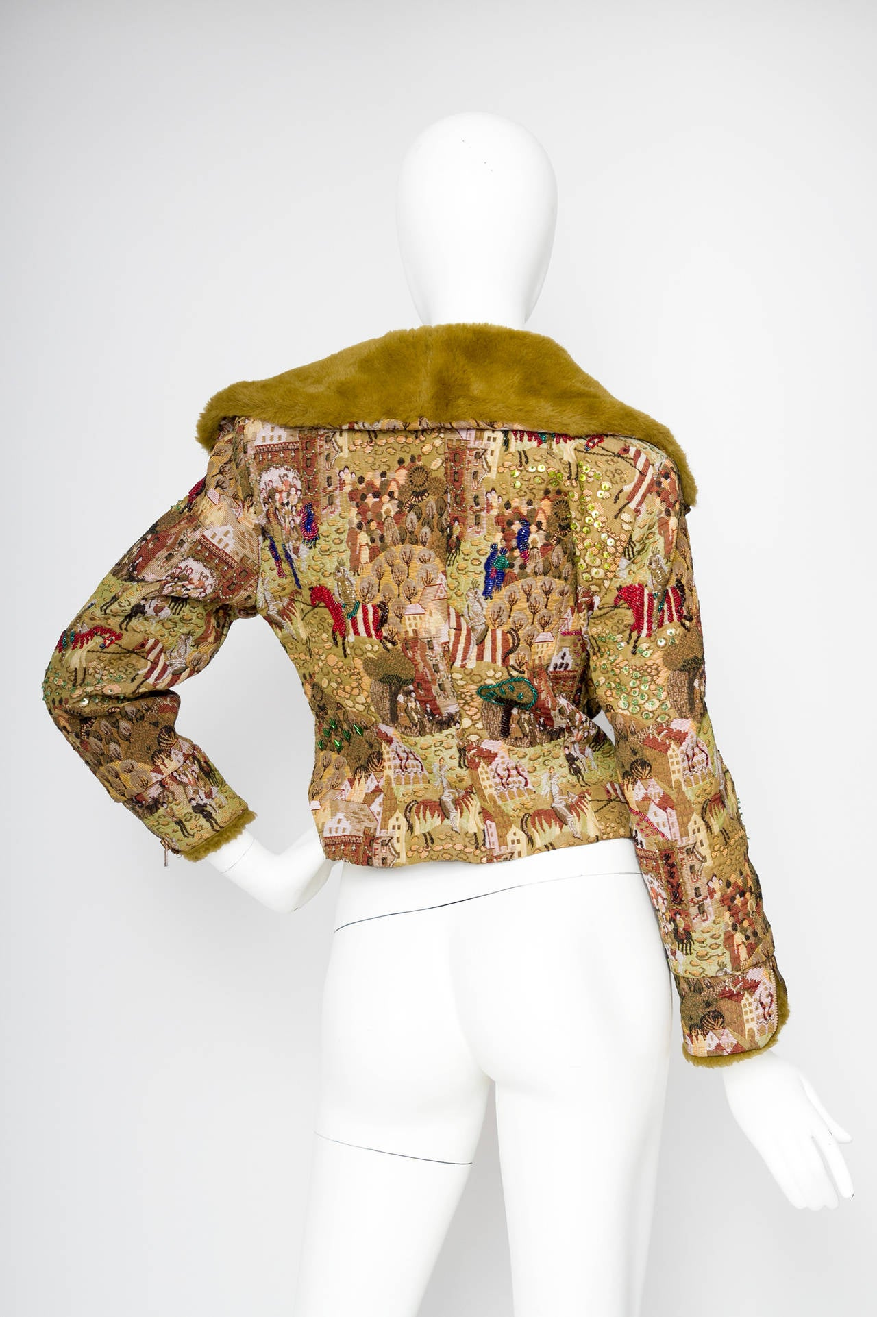 1950s Embroidered Avant Garde Tapestry Jacket by Lilli Ann 4