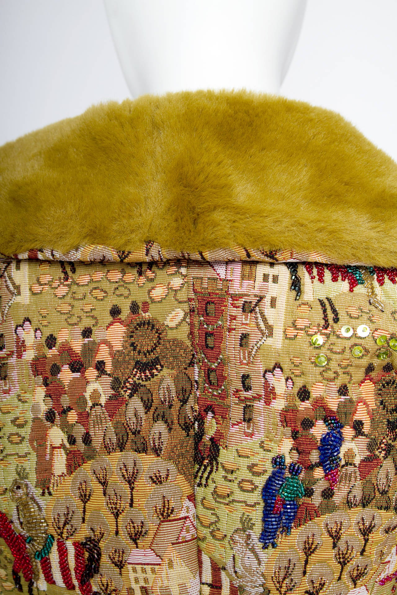 1950s Embroidered Avant Garde Tapestry Jacket by Lilli Ann 8