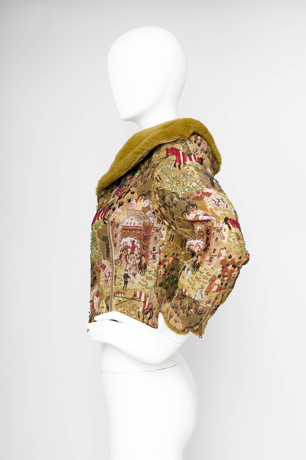 1950s Embroidered Avant Garde Tapestry Jacket by Lilli Ann 3