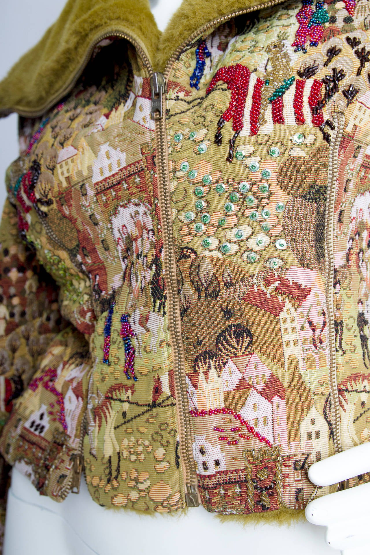 1950s Embroidered Avant Garde Tapestry Jacket by Lilli Ann 10