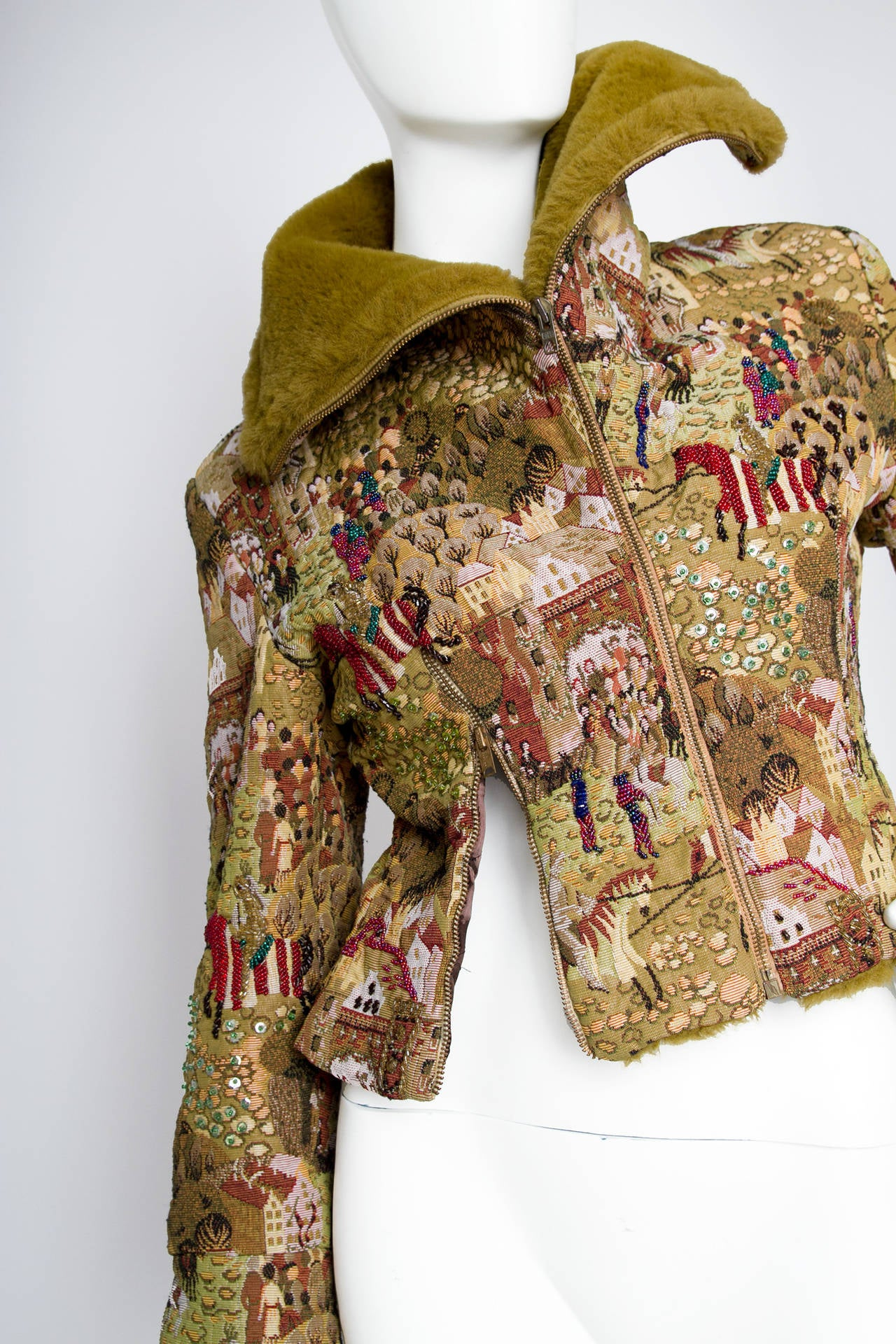 1950s Embroidered Avant Garde Tapestry Jacket by Lilli Ann 5