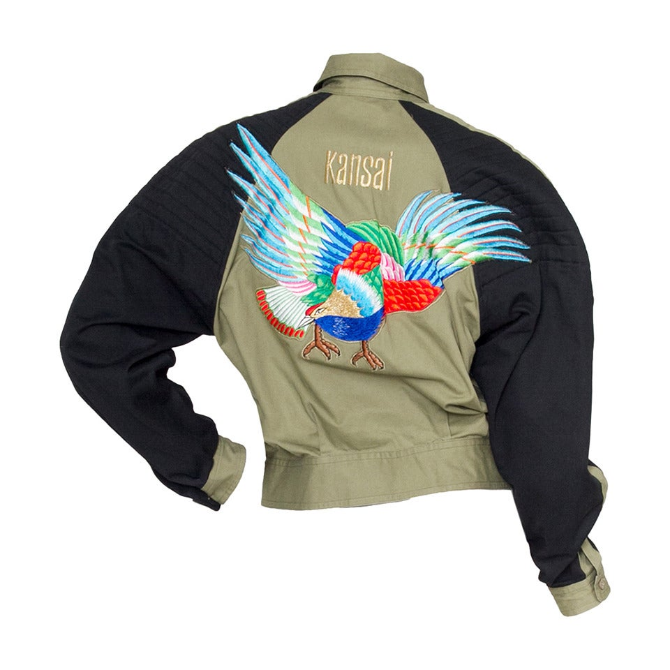 1980s Kansai Yamamoto Canvas Biker jacket For Sale