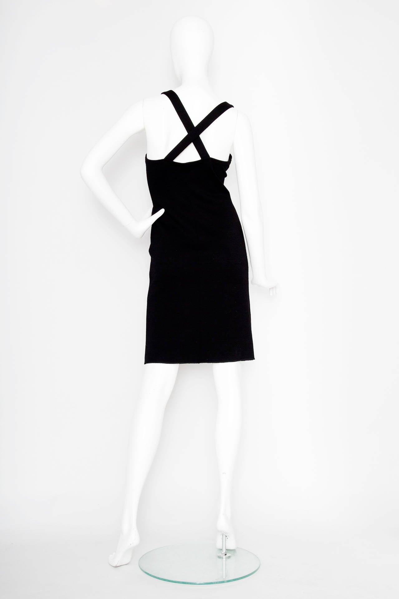 Women's 1980s Yves Saint Laurent Little Black Dress For Sale