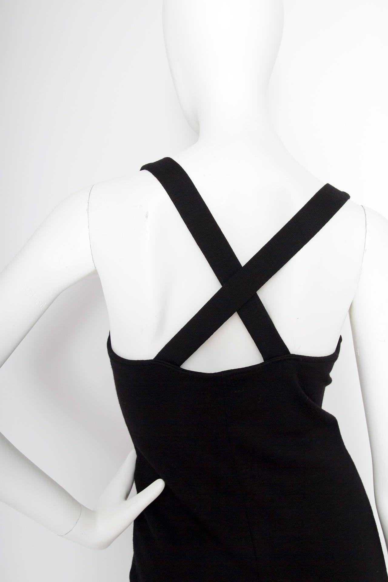 1980s Yves Saint Laurent Little Black Dress For Sale 1