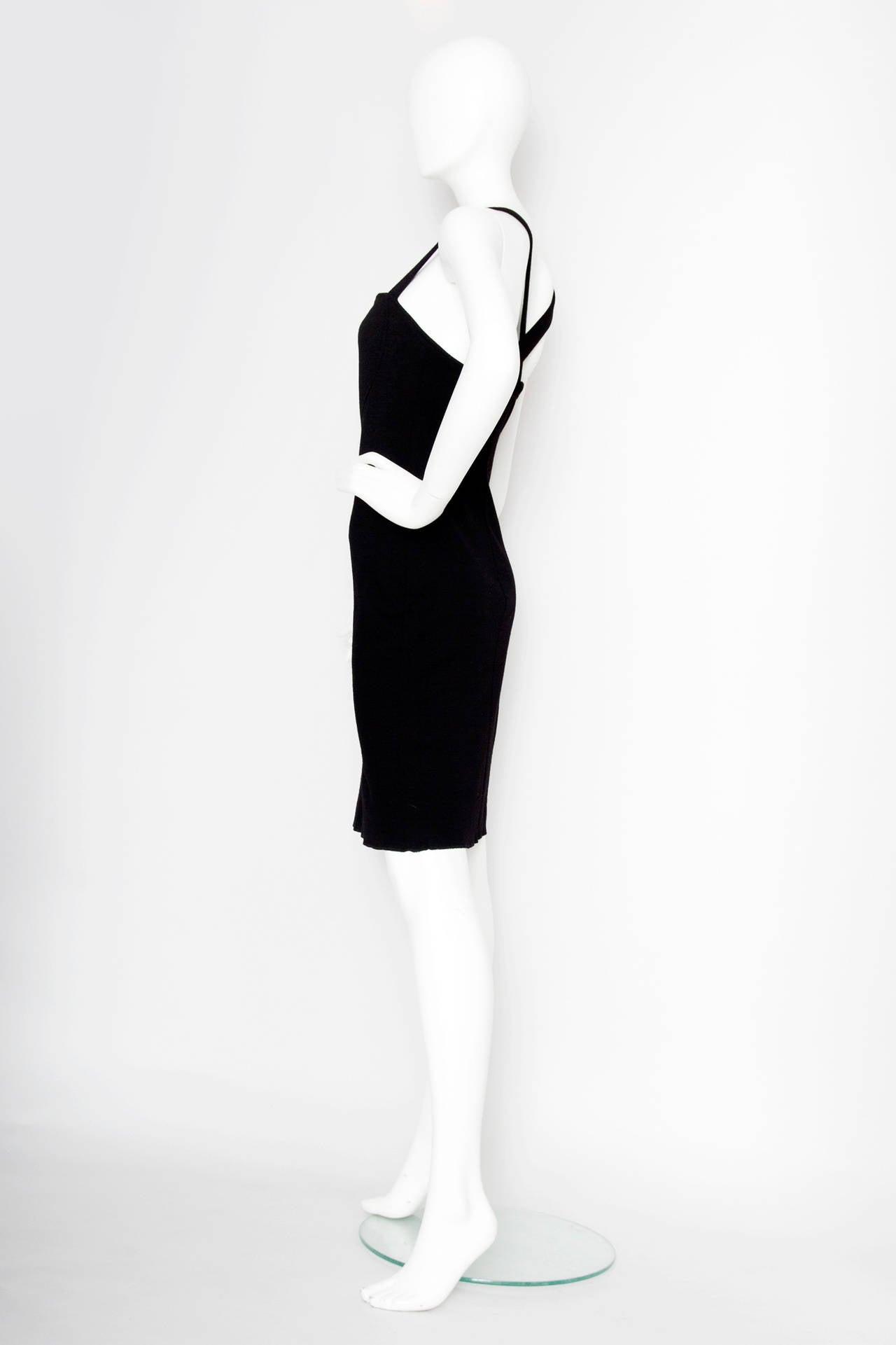1980s Yves Saint Laurent Little Black Dress In Good Condition For Sale In Copenhagen, DK