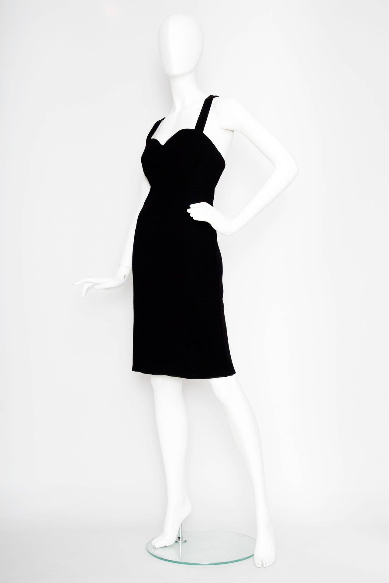 1980s Yves Saint Laurent Little Black Dress 2