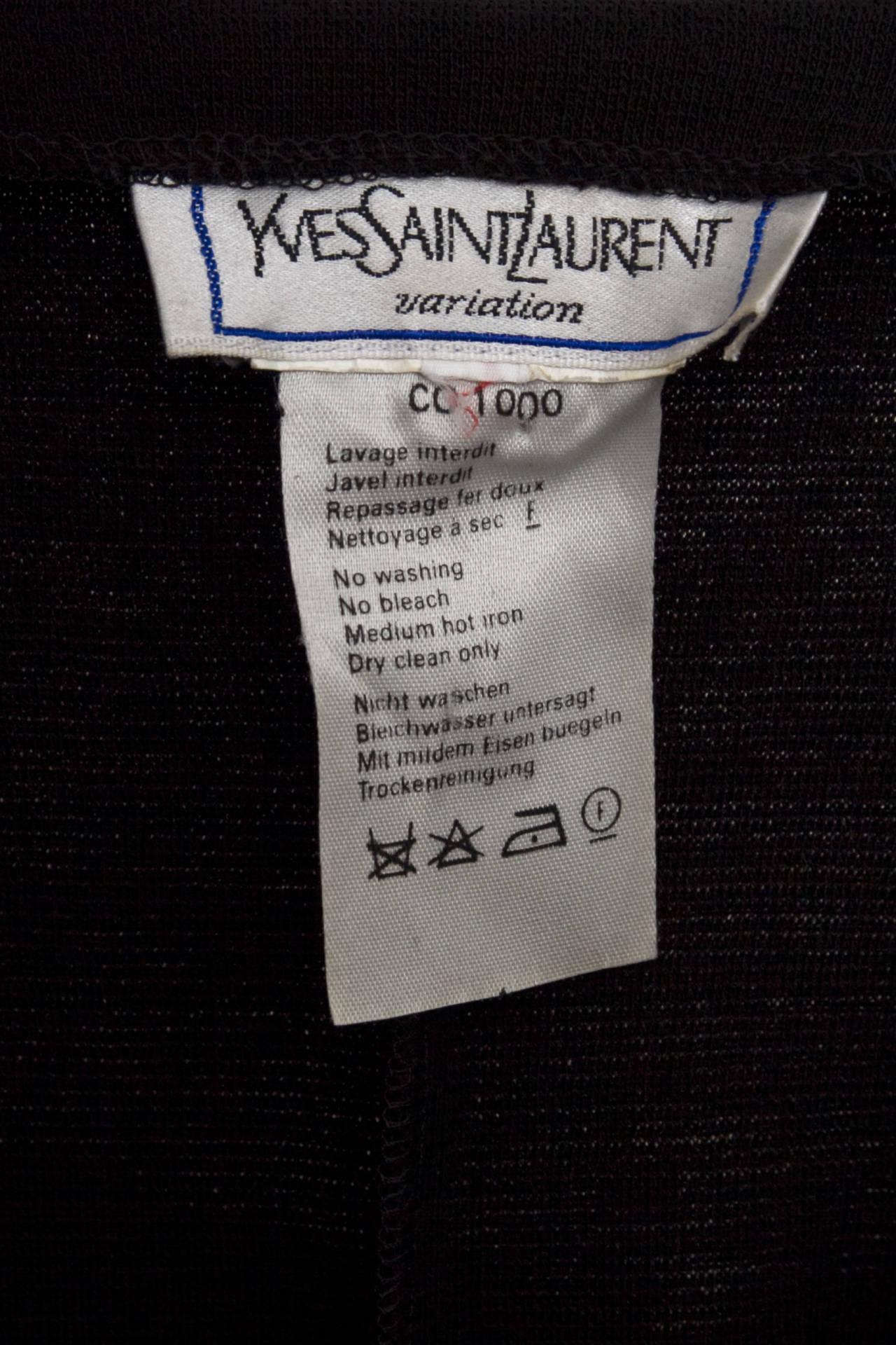1980s Yves Saint Laurent Little Black Dress 6