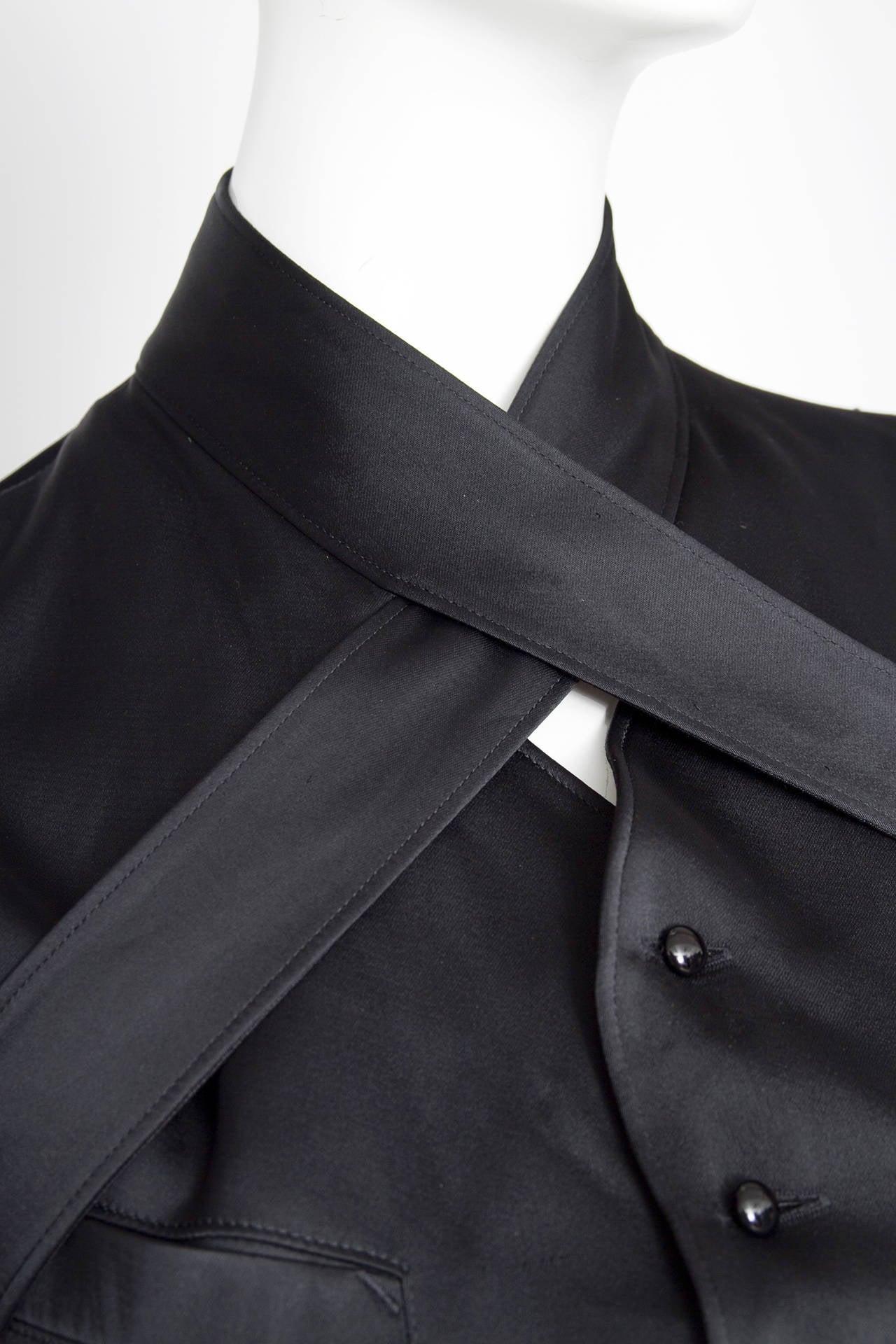 1990s Jean Paul Gaultier Black Bondage Waistcoat 8