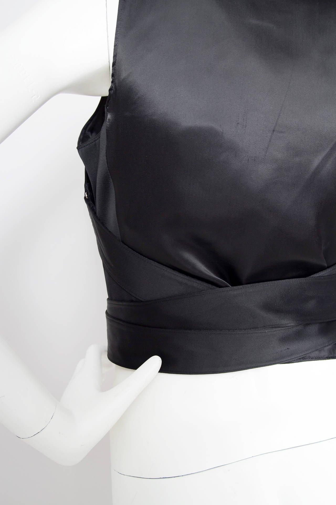 1990s Jean Paul Gaultier Black Bondage Waistcoat 9
