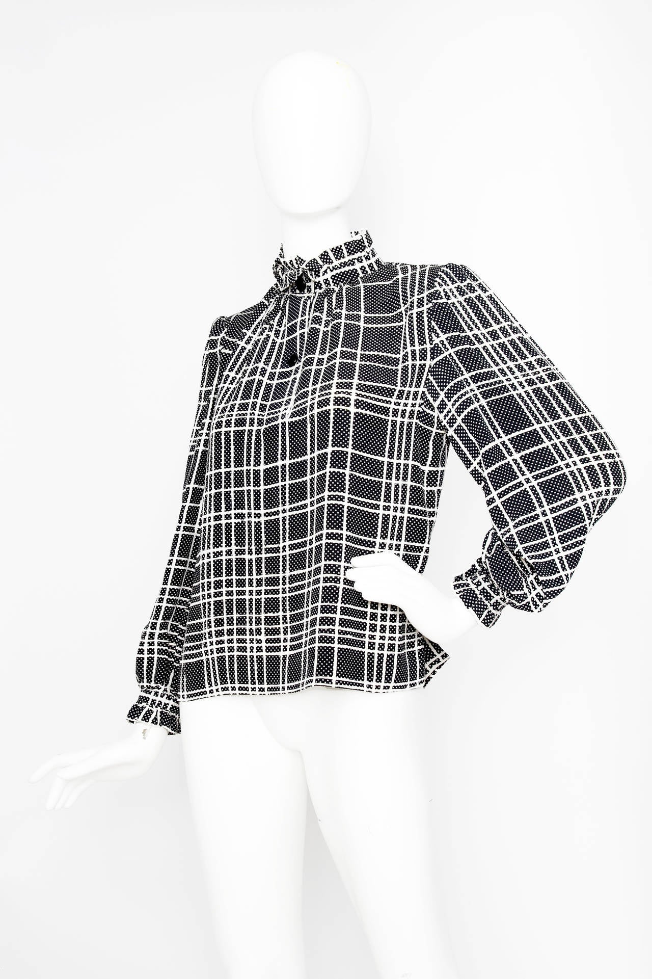 A 1970s Givenchy Haute Couture Silk Jersey Blouse 2