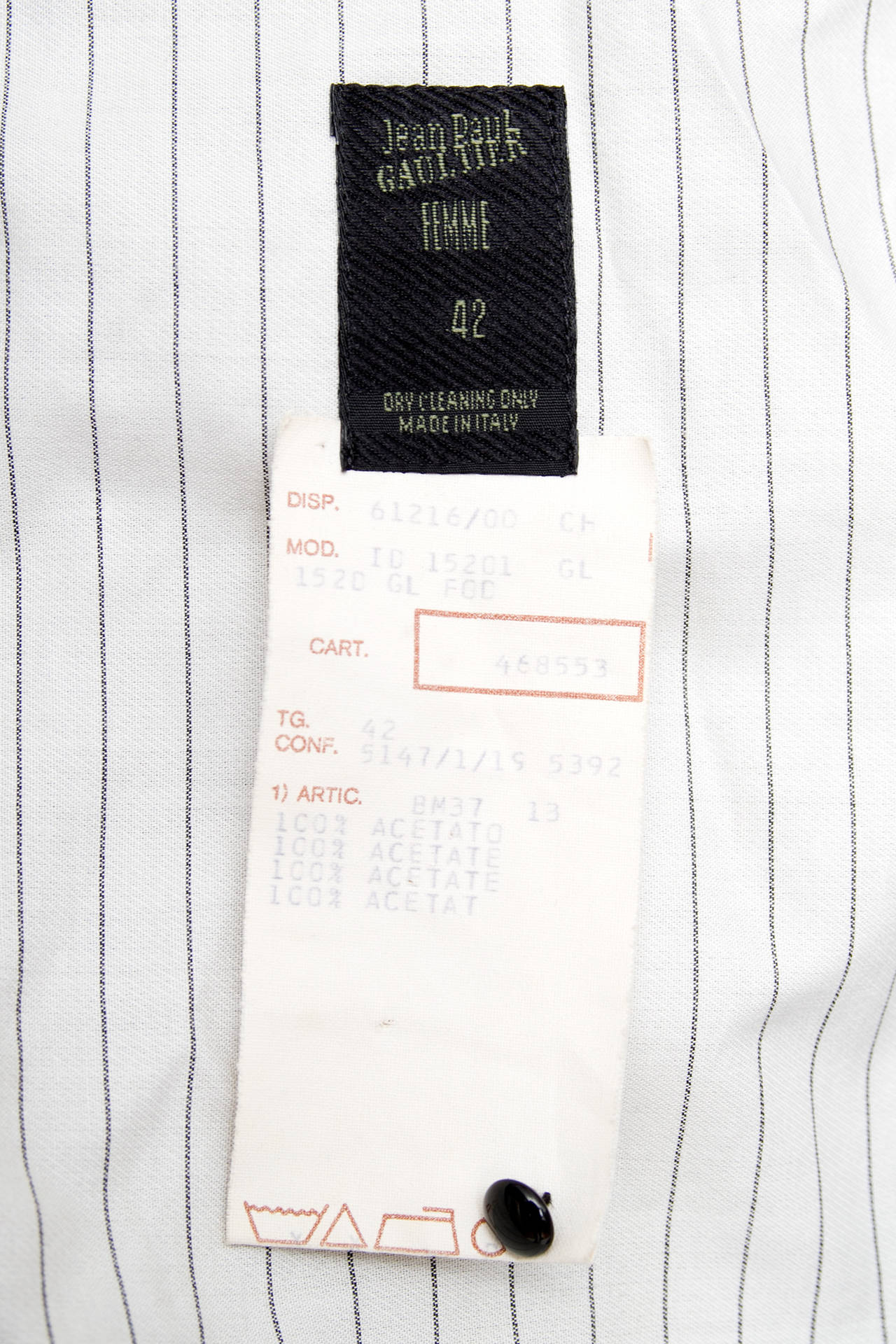 1990s Jean Paul Gaultier Black Bondage Waistcoat 10
