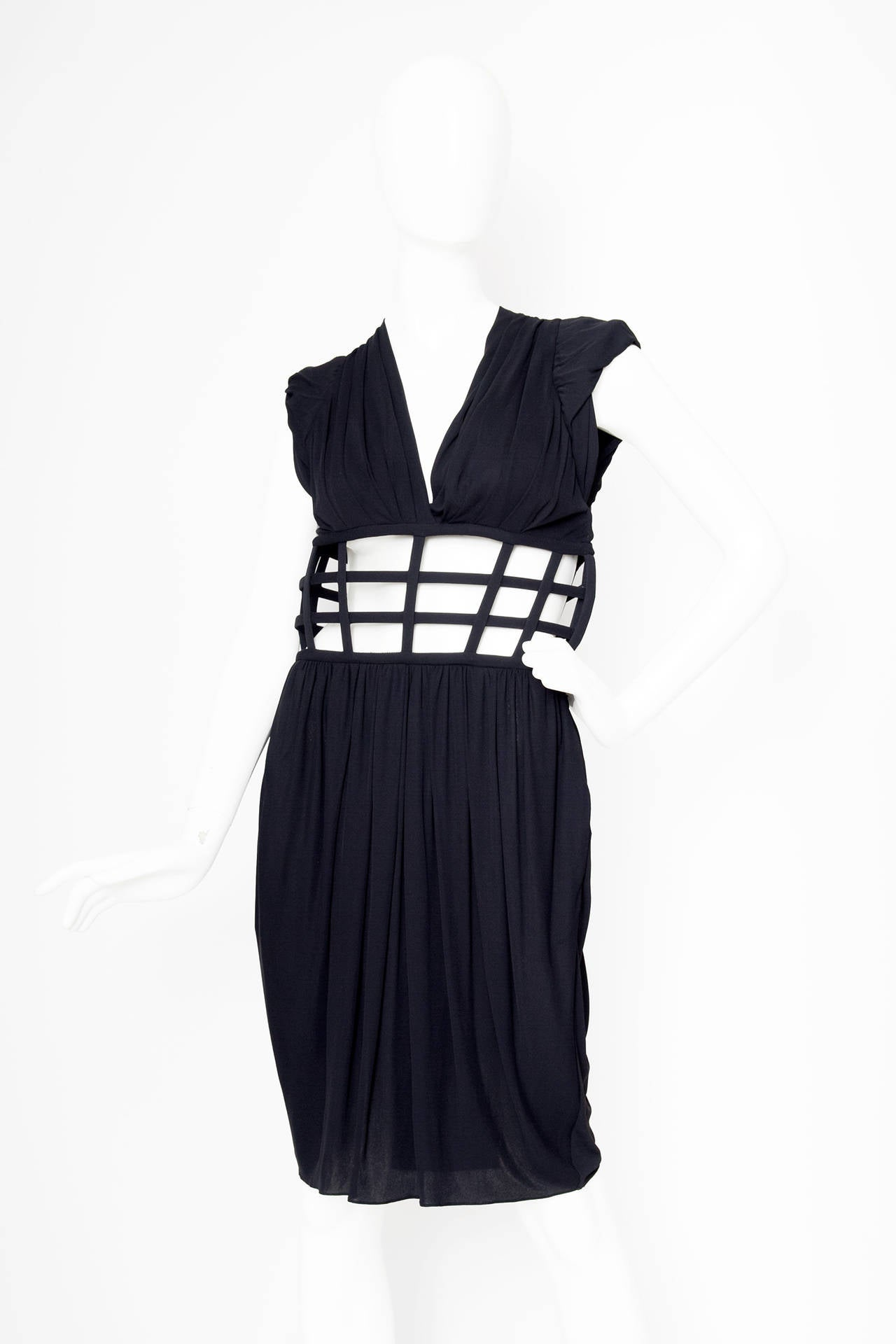 1990s Jean Paul Gaultier Black Corset Dress 2