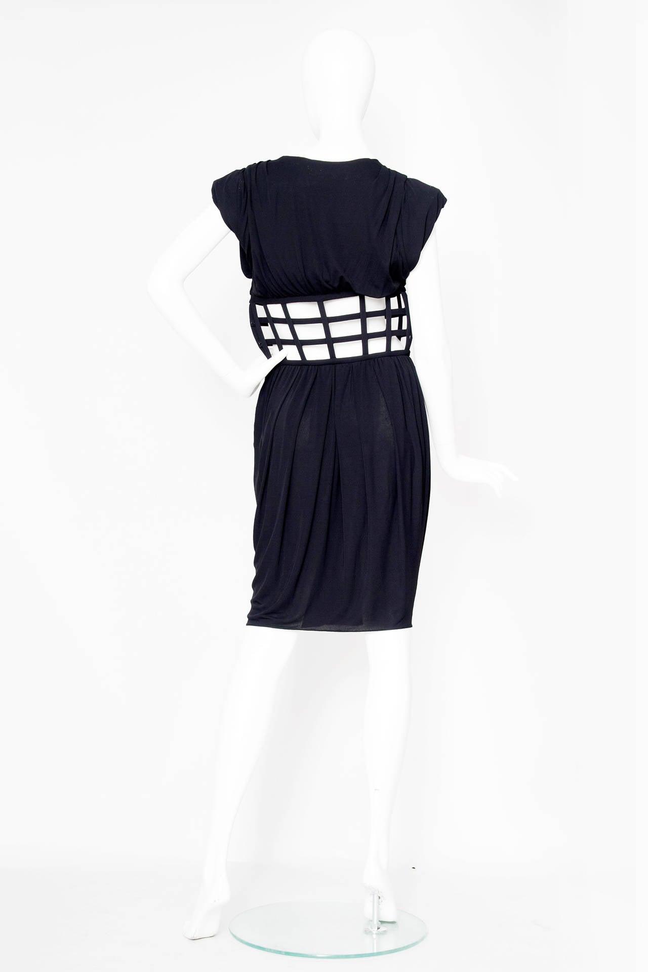 1990s Jean Paul Gaultier Black Corset Dress 4