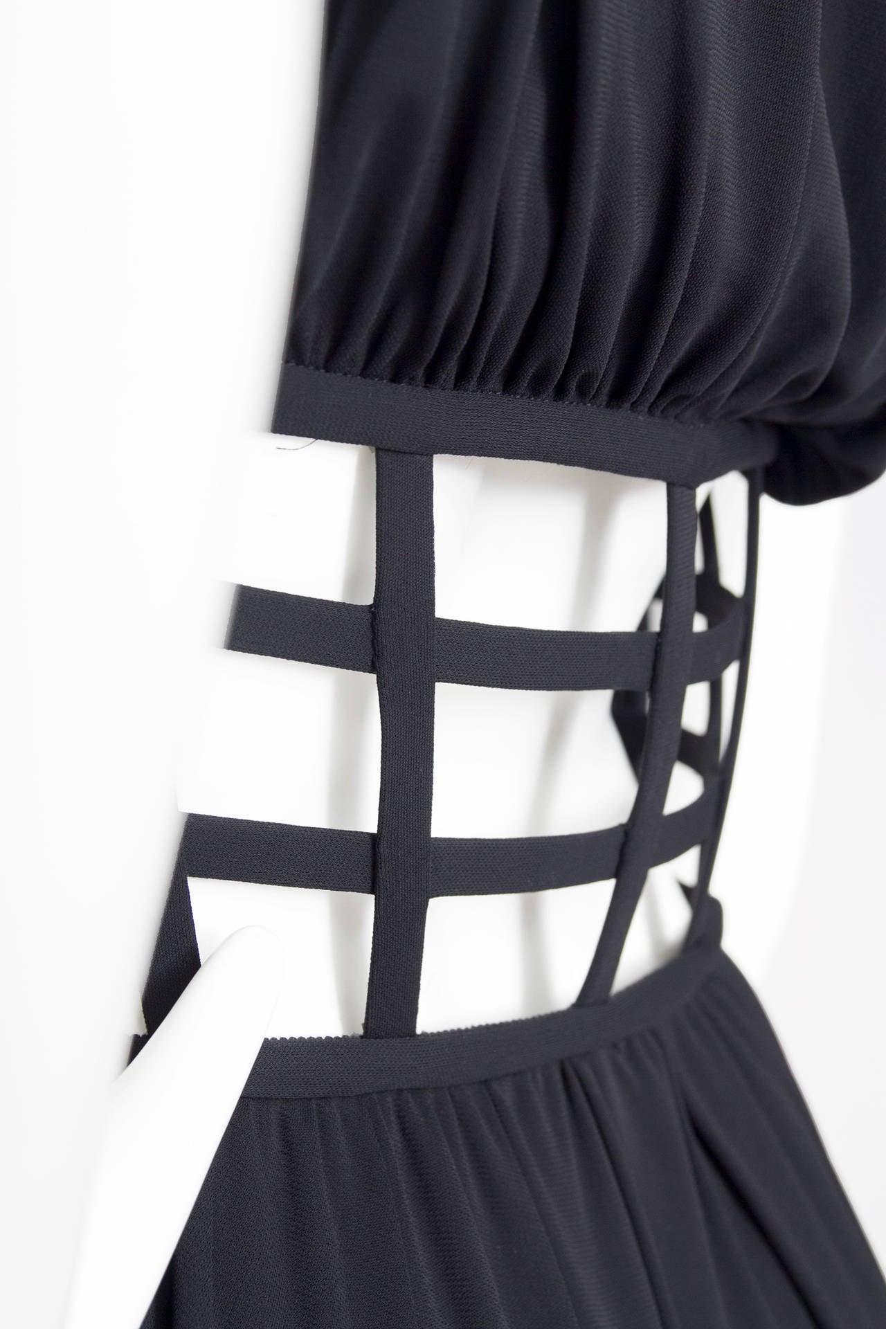 1990s Jean Paul Gaultier Black Corset Dress 7