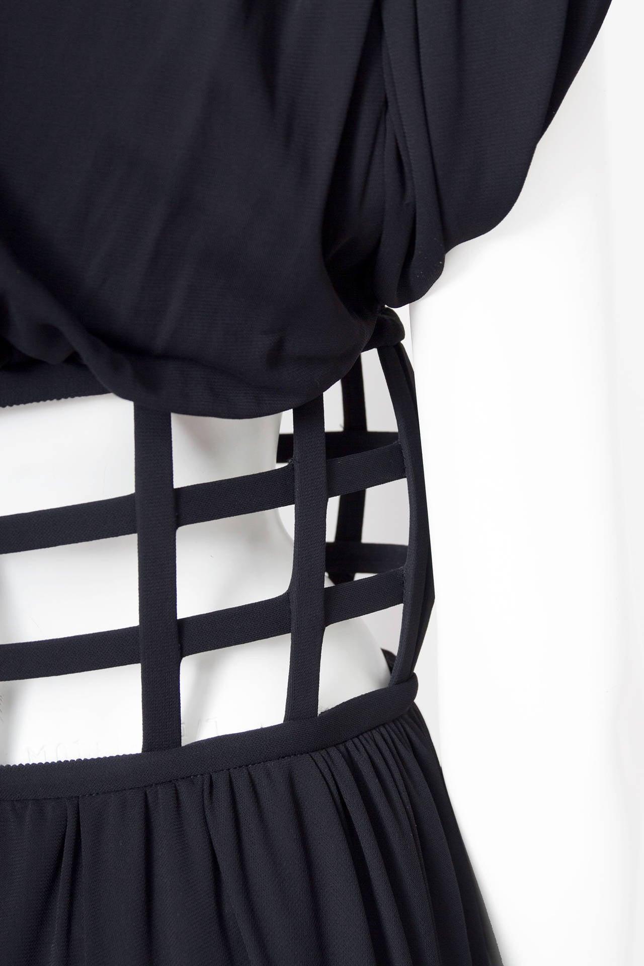 1990s Jean Paul Gaultier Black Corset Dress 8