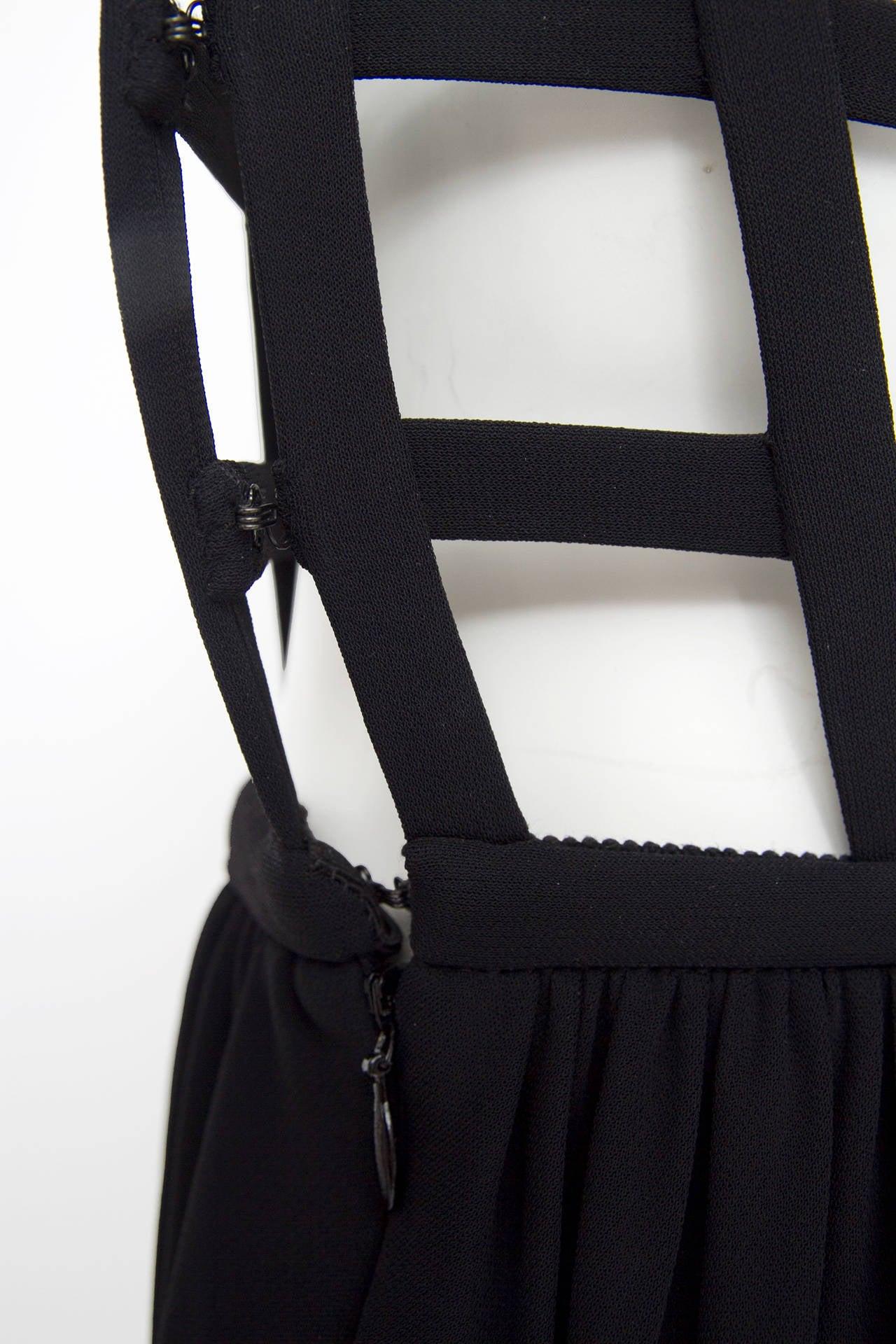 1990s Jean Paul Gaultier Black Corset Dress 9