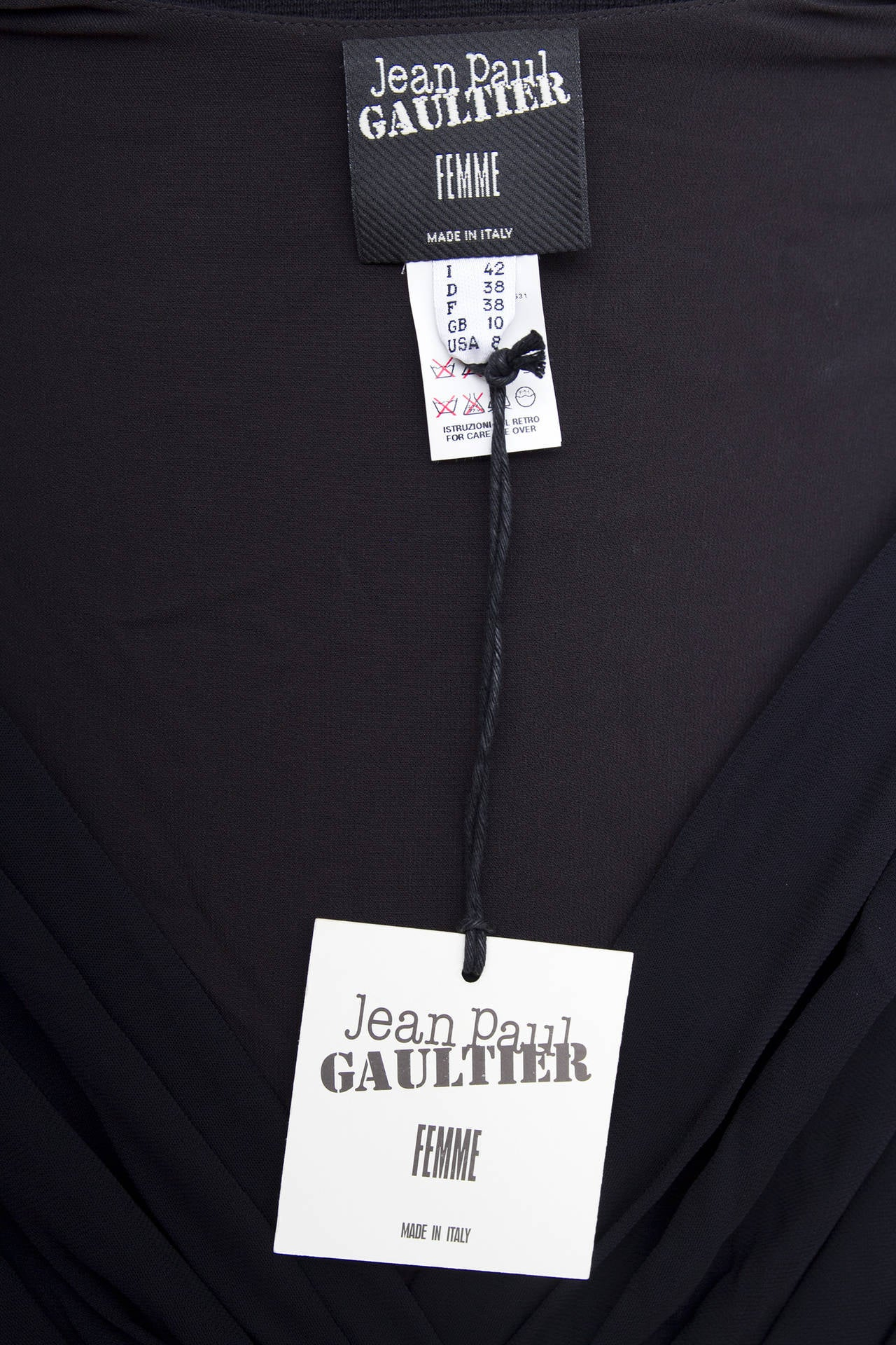 1990s Jean Paul Gaultier Black Corset Dress 10